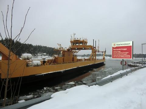 Färjan Aurora som tog oss från Yxlan till Blidö