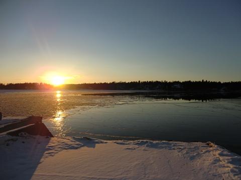 Solnedgång över Yxlan