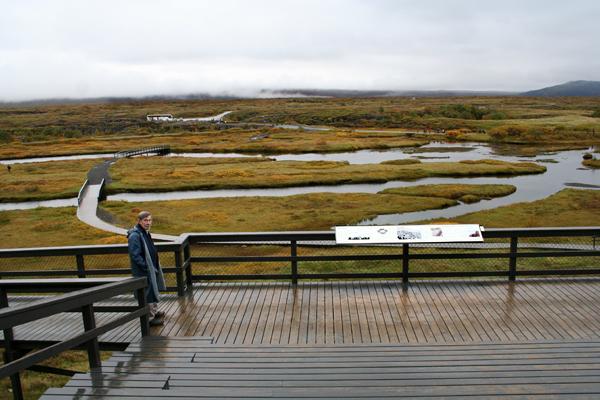 Utsikt från Lagberget - allt tillrättalagt för turisterna
